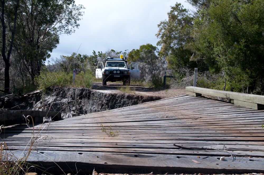 Busted bridge near deep creek